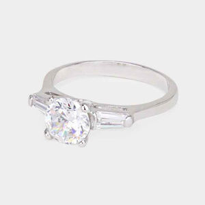 ROUND CUT CZ RING SIZE 9